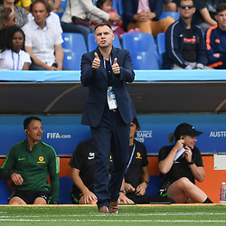 Ante Milicic head coach of Austalia during the Women's World Cup match between Australia and Brazil at Stade de la Mosson on June 13, 2019 in Montpellier, France. (Photo by Alexandre Dimou/Icon Sport)