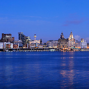 Liverpool panoramic city skyline