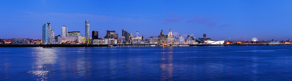 Liverpool panoramic city skyline