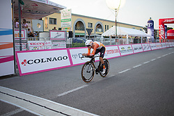 Amalie Dideriksen (DEN) of Boels-Dolmans Cycling Team digs deep before crossing the finish line of the Giro Rosa 2016 - Prologue. A 2 km individual time trial in Gaiarine, Italy on July 1st 2016.