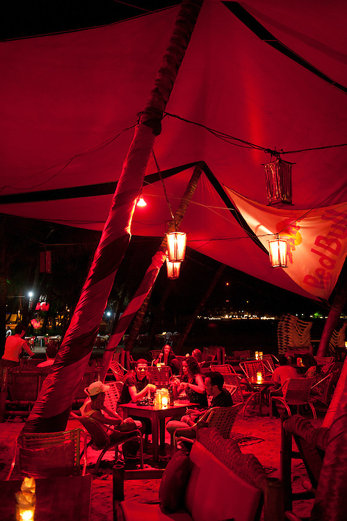 Restaurant and Lounges at the beach,Cabarete, Dominican Republic, Caribbean