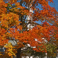 Old Dutch Church circa 1600's in the  fall in the Catskill Mountains Woodstock New York