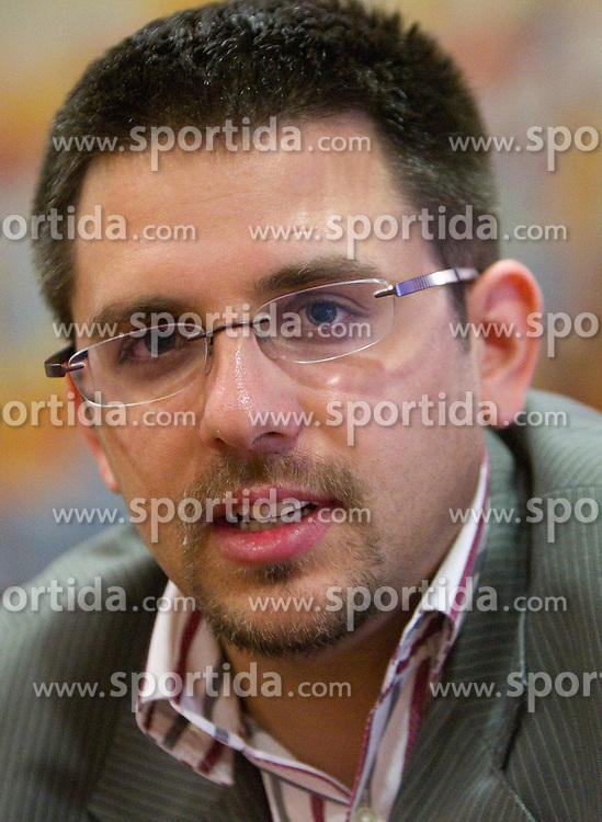 Ales Kriznar, director of Eurobasket Slovenija 2013 prior to the press conference of Slovenian National Basketball team during training camp in Kranjska Gora, on July 12, 2011, in Hotel Larix, Kranjska Gora, Slovenia. (Photo by Vid Ponikvar / Sportida)