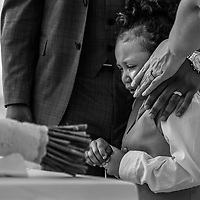 Anna & Jamar's son during an emotional moment during their vow's renewal ceremony at the Hyatt Ziva Puerto Vallarta Mexico. Photo by: Juan Carlos Calderón