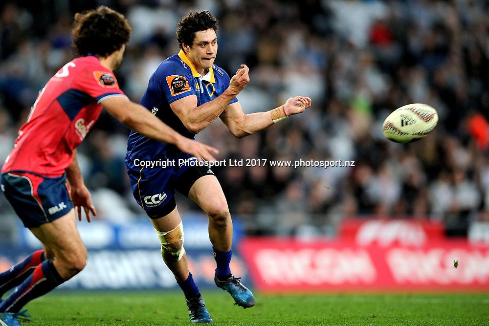 Jonathan Ruru of Otago. Otago v Tasman. Mitre 10 Cup Championship Rugby Union. Forsyth Barr Stadium, Dunedin, New Zealand. 16 September 2017. Copyright Image: Joe Allison / www.photosport.nz