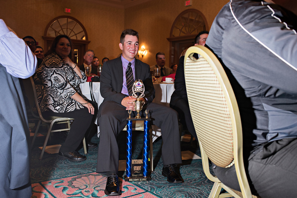 Brandon Blome of Adairsville, Ga. received the Top Student award during the 2016 Student Graduation Banquet Gala. Blome was one of 24 students selected to go onto the next level, a one week course at Professional Baseball Umpire Corp. (better known as PBUC) in Vero Beach, Fla., where he'll be evaluated and ideally offered a job placement in the Minor Leagues.