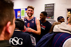 Mike Vigor of Bristol Flyers and Fred Thomas of Bristol Flyers - Photo mandatory by-line: Ryan Hiscott/JMP - 13/04/2019 - BASKETBALL - SGS Wise Arena - Bristol, England - Bristol Flyers v Manchester Giants - British Basketball League Championship