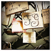 10-10-11 --- Locks on the Pont des Arts over the Seine placed by lovers to declare their love to each other.
