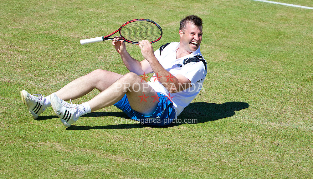 LIVERPOOL, ENGLAND - Friday, June 20, 2014: Barry Cowan during Day Two of the Liverpool Hope University International Tennis Tournament at Liverpool Cricket Club. (Pic by David Rawcliffe/Propaganda)