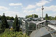 Palmengarten, Tropicarium und Fernmeldeturm Ginnheimer Spargel, Frankfurt am Main, Hessen, Deutschland | Palmengarten, botanical garden in Frankfurt, Tropicarium , Germany