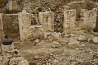 Travel stock photo of a Roman Private House -  Earthquake House ruins at Kourion Archaeological Site near Limassol in Cyprus Spring 2007 Horizontal