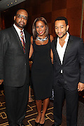 "15 November 2010- New York, NY- l to r: Don Coleman, Kelli Coleman and John Legend at The National Action Network's 1st Annual Triumph Awards honoring ""Our Best"" in the Arts, Entertainment, & Sports held at Jazz at Lincoln Center on November 15, 2010 in New York City. Photo Credit: Terrence Jennings"