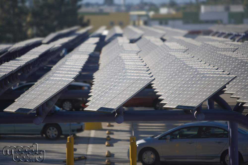Photovoltaic array in Los Angeles California
