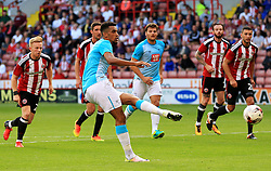 Nick Blackman of Derby County scores the opening goal from the penalty spot - Mandatory by-line: Matt McNulty/JMP - 27/07/2016 - FOOTBALL - Bramall Lane - Sheffield, England - Sheffield United v Derby County - Pre-season friendly