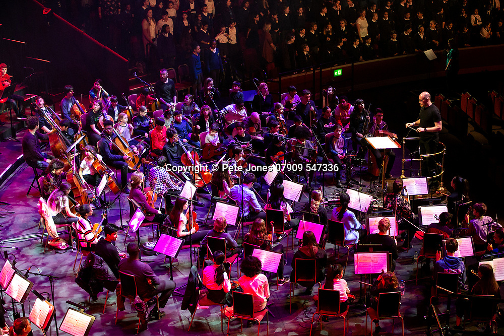 """""""Convo"""" by Charlotte Harding;<br /> Tri-Borough Music Hub;<br /> Royal Albert Hall, London;<br /> 7th March 2019.<br /> <br /> © Pete Jones<br /> pete@pjproductions.co.uk"""