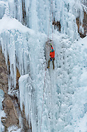 Ice climbing in the Ouray Ice Park.