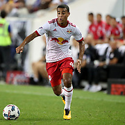HARRISON, NEW JERSEY- AUGUST 25: Tyler Adams #4 of New York Red Bulls in action during the New York Red Bulls Vs New York City FC MLS regular season match at Red Bull Arena, Harrison, New Jersey on August 25, 2017 in Harrison, New Jersey. (Photo by Tim Clayton/Corbis via Getty Images)