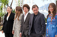 Actress Robin Bartlett, Sarah Sutherland, director Michel Franco, actor Tim Roth, actress Nailea Norvind at the Chronic film photo call at the 68th Cannes Film Festival Friday 22nd May 2015, Cannes, France.