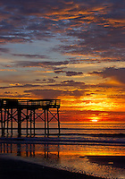 Isle of Palms fishing pier sunrise #2.