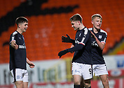 Cedwyn Scott of Dundee is congratulated after scoring by Max Anderson and Callum Moore  - Dundee United v Dundee, SPFL Under 20 Development League at Tannadice Park, Dundee<br /> <br />  - © David Young - www.davidyoungphoto.co.uk - email: davidyoungphoto@gmail.com