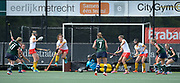 They all count as Surbiton's Holie Webb scuffs it for the equaliser during their semi final of the EHCC 2017 at Den Bosch HC, The Netherlands, 3rd June 2017
