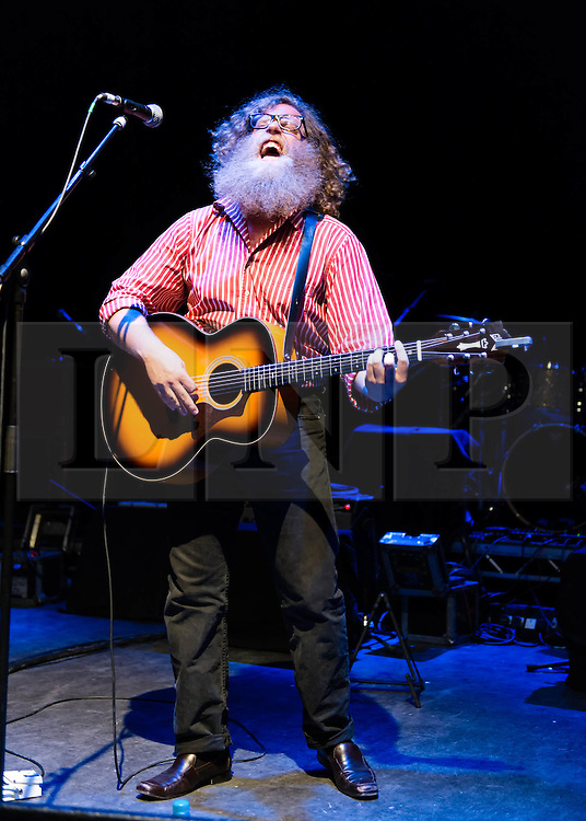 © Licensed to London News Pictures. 01/07/2013. London, UK.   Ben Caplan performing live at Shepherds Bush Empire, supporting headliner Zac Brown Band.   Ben Caplan is a Canadian singer songwriter with influences including Tom Waits, gypsy and blues.  Photo credit : Richard Isaac/LNP