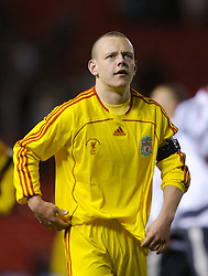 Manchester, England - Thursday, April 26, 2007: Liverpool's captain Jay Spearing celebrates after beating Manchester United on penalties to win the FA Youth Cup for the second successive year during the FA Youth Cup Final 2nd Leg at Old Trafford. (Pic by David Rawcliffe/Propaganda)