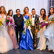 The New Title Holders for 2018 from Left to Right- Miss Border City Ashley M., Miss El Paso Outstanding Teen Natalya T. Miss El Paso America Andrea C., Miss West Texas Outstanding Teen Daniella C and Miss West Texas Abbie V. / Andres Acosta El Paso Herald-Post