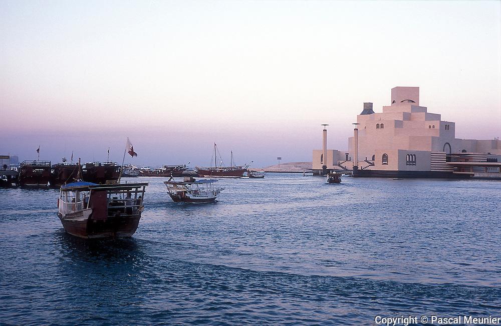 QATAR. Doha. Museum of islamic art and dhows