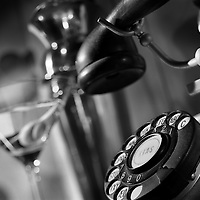 Prohibition era phone with martini