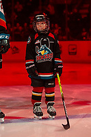 KELOWNA, BC - FEBRUARY 15: The Pepsi Player of the game lines up alongside the Kelowna Rockets against the Red Deer Rebels at Prospera Place on February 15, 2020 in Kelowna, Canada. (Photo by Marissa Baecker/Shoot the Breeze)