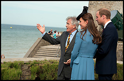 Image ©Licensed to i-Images Picture Agency. 06/06/2014. Arromanches, France. The Duke and Duchess of Cambridge attend a Commemoration of the 70th anniversary of the Normandy Landings at Gold Beach, Normandy, France,  on the 70th anniversary of D-Day.  Picture by i-Images