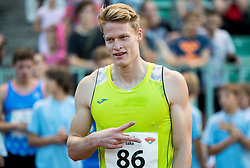 Luka Janezic of Slovenia celebrates after 400m Men during 20th European Athletics Classic Meeting in Honour of Miners' Day in Velenje on July 1, 2015 in Stadium Velenje, Slovenia. Photo by Vid Ponikvar / Sportida