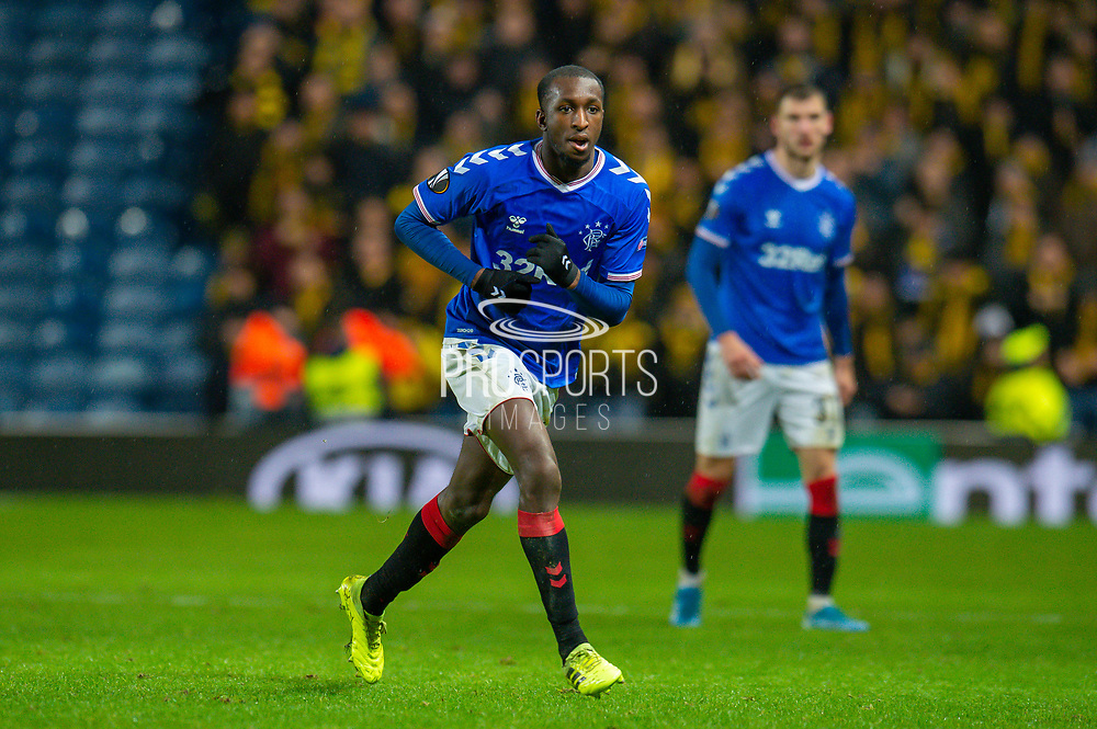 Glen Kamara (#18) of Rangers FC during the Europa League Group G match between Rangers FC and BSC Young Boys at Ibrox Park, Glasgow, Scotland on 12 December 2019.
