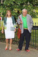 Ruth Rogers; Richard Rogers, The Serpentine Gallery summer party, Kensington Gardens London UK, 26 June 2013, (Photo by Richard Goldschmidt)