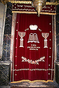The Torah ark in the Ancient Synagogue (Oldest in France from 1367), Carpentras, Provence, France
