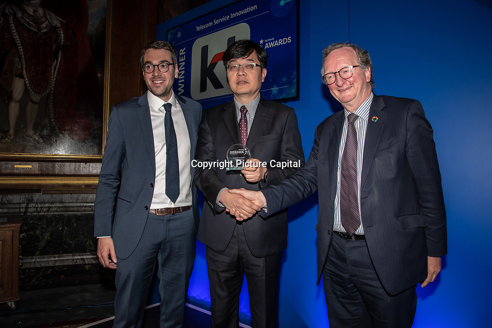 KT 5G winner of Telecom Service Innovation of the 5G Awards ceremony at Drapers' Hall, on 12 June 2019, London, UK.