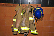 Fire fighters equipment Coats and Helmets