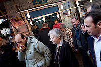 3 March 2012- Palermo, Italy: Rita Borsellino and ex-mayor of Palermo Leoluca Orlando at the Capo, a popular market of Palermo. Rita Borsellino, 66, is the mayor candidate in the centre-left primary campaing for the local elections of the city of Palermo, Sicily. ### 3 marzo 2012 - Palermo, Italia. Rita Borsellino e Leoluca Orlando al Capo, un mercato popolare di Palermo. Rita Borsellino, 66 anni, è il candidato sindaco alle primare del centrosinistra per le elezioni amministrative della città di Palermo, Sicilia. marzo 2012 - Palermo, Italia. Rita Borsellino, 66 anni, è il candidato sindaco alle primare del centrosinistra per le elezioni amministrative della città di Palermo, Sicilia.