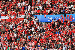 Fans of Austria before the UEFA EURO 2008 Group B soccer match between Austria and Croatia at Ernst-Happel Stadium, on June 8,2008, in Vienna, Austria.  (Photo by Vid Ponikvar / Sportal Images)