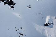 Verbier, Switzerland. March 20th 2010..X-Trem Verbier 2010 - Freeride World Tour.Bec des Rosses from Col des Gentianes.American skier Jess Mc Millan