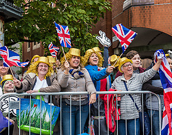 Crowds gather at National Olympic Heroes Parade in<br /> Manchester<br /> <br /> (c) John Baguley | Edinburgh Elite media