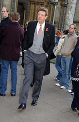 EARL PEEL at the wedding of Clementine Hambro to Orlando Fraser at St.Margarets Westminster Abbey, London on 3rd November 2006.<br />