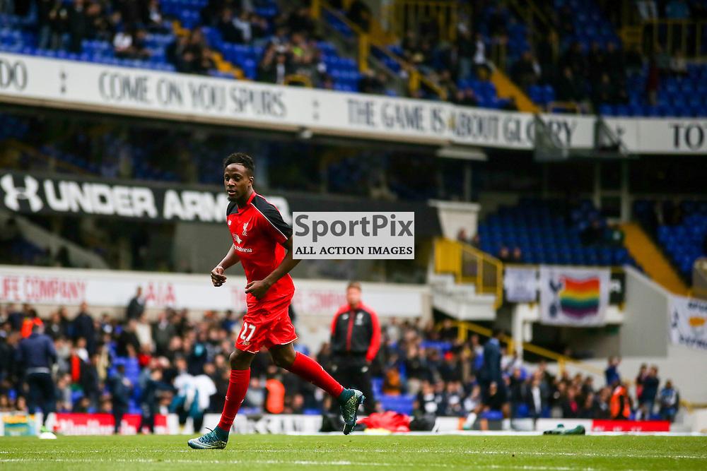 Divock Origi before Tottenham Hotspur vs Liverpool on Saturday 17th of October 2015.