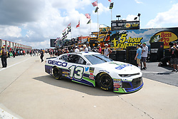 September 29, 2018 - Charlotte, NC, U.S. - CHARLOTTE, NC - SEPTEMBER 29: #13: Ty Dillon, Germain Racing, Chevrolet Camaro GEICO leaving the garages during the Monster Energy NASCAR Cup Series Playoff Race Bank of America ROVAL 400 on September 29, 2018, at Charlotte Motor Speedway in Concord, NC. (Photo by Jaylynn Nash/Icon Sportswire) (Credit Image: © Jaylynn Nash/Icon SMI via ZUMA Press)