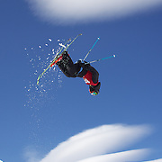 Wing Tai Barrymore, USA, in action in the Men's Halfpipe Finals during The North Face Freeski Open at Snow Park, Wanaka, New Zealand, 3rd September 2011. Photo Tim Clayton....