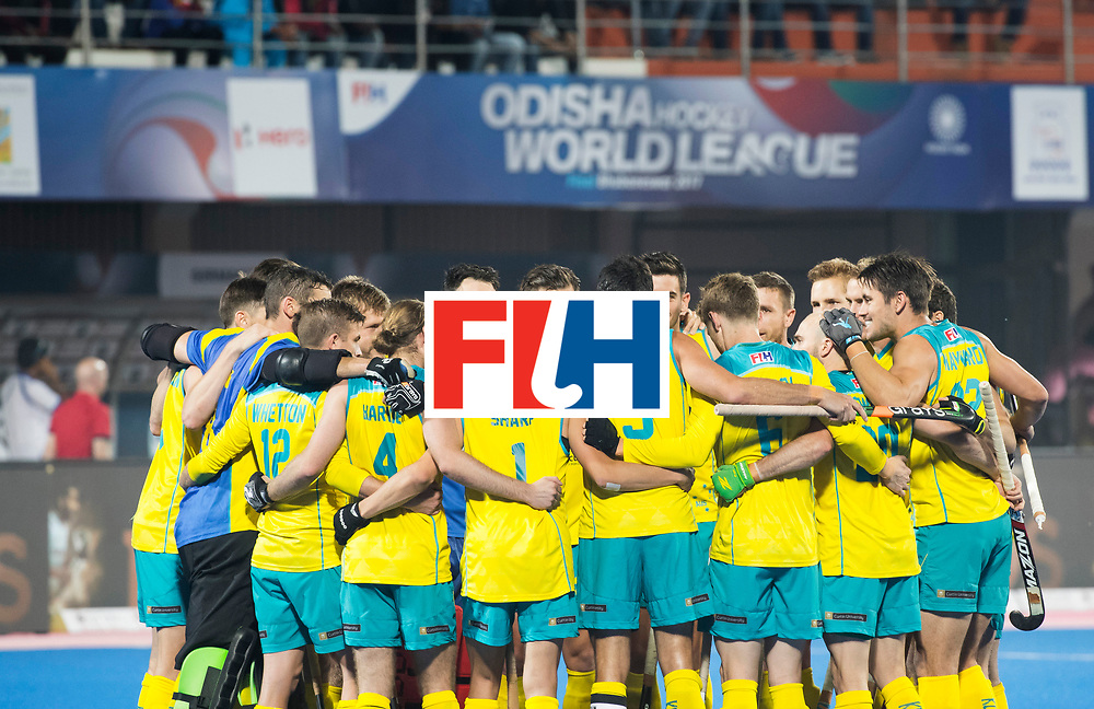 BHUBANESWAR - The Odisha Men's Hockey World League Final . Match ID 05 . Germany  v Australia . team Australia before the match. WORLDSPORTPICS COPYRIGHT  KOEN SUYK