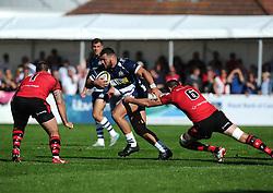 Bristol Rugby Prop Ellis Genge breaks free  - Mandatory byline: Joe Meredith/JMP - 07966386802 - 26/09/2015 - RUGBY - St. Peter -Saint Peter,Jersey - Jersey Rugby v Bristol Rugby - Greene King IPA Championship