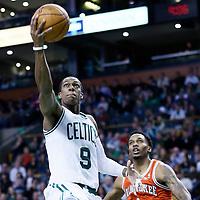 21 December 2012: Boston Celtics point guard Rajon Rondo (9) goes for the layup past Milwaukee Bucks point guard Brandon Jennings (3) during the Milwaukee Bucks 99-94 overtime victory over the Boston Celtics at the TD Garden, Boston, Massachusetts, USA.
