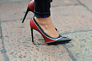 Red and Black Zipper Shoes